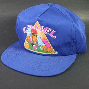 Camel Joe Billiards Vintage snapback hat cap blue